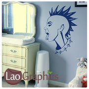 Punk Rock Woman #2 Culture Wall Stickers Home Decor Art Decals-LaoGraphics