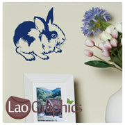 Rabbit Wild Animals Wall Stickers Home Decor Art Decals-LaoGraphics