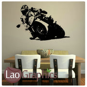 Racing Bike Vehicle & Transport Wall Stickers Home Decor Art Decals-LaoGraphics