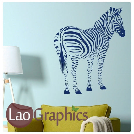 Rear / Side Zebra African Wild Animals Wall Stickers Home Transfer Art Decals-LaoGraphics