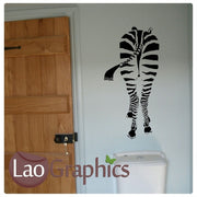 Rear Zebra African Wild Animals Wall Stickers Home Transfer Art Decals-LaoGraphics