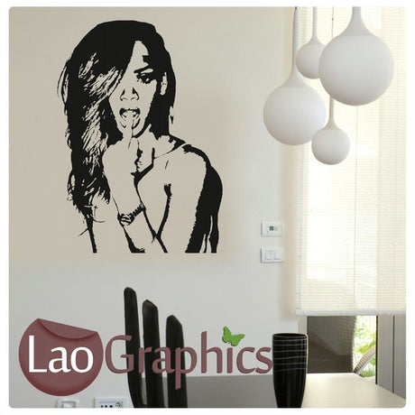 Rhianna Wall Stickers Home Decor Art Decals-LaoGraphics