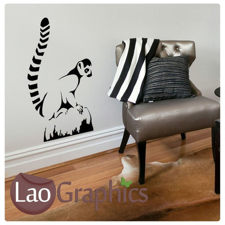 Ring Tailed Lemur Wild Animals Wall Stickers Home Decor Art Decals-LaoGraphics