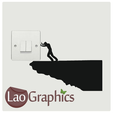 Rock Pushing Light Switch Light Switch Art Decals Home Decor Cute Wall Stickers-LaoGraphics
