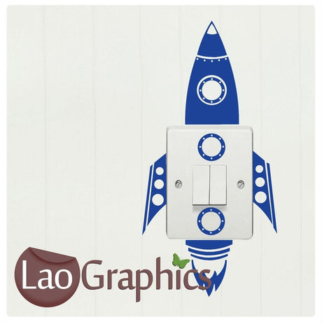 Rocket Light Switch Light Switch Art Decals Home Decor Cute Wall Stickers-LaoGraphics