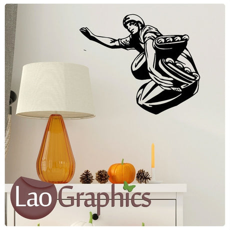 Roller Blader Wall Sticker Boys Sports Wall Stickers Home Decor Art Decals-LaoGraphics