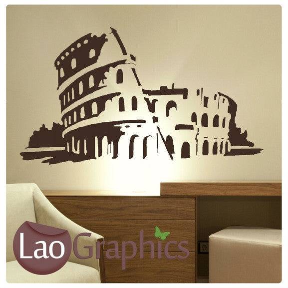 Roman Colosseum Rome World Landmark Wall Stickers Home Decor Art Decals-LaoGraphics