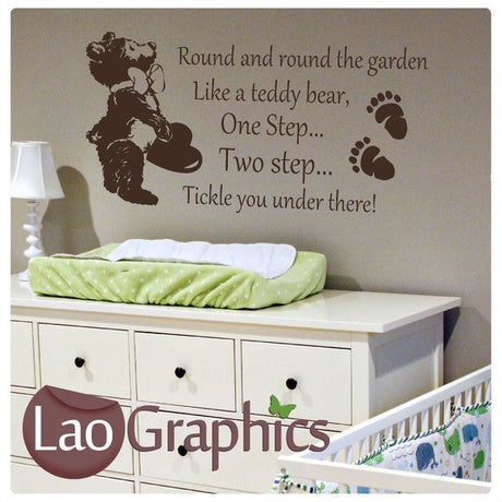 Round & Round the Garden Wall Stickers Home Decor Art Decals-LaoGraphics