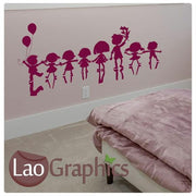 Row of Children Nursery Wall Stickers Home Decor Childrens Art Decals-LaoGraphics