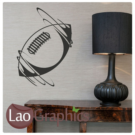 Rugby Ball Boys Sports Wall Stickers Home Decor Art Decals-LaoGraphics