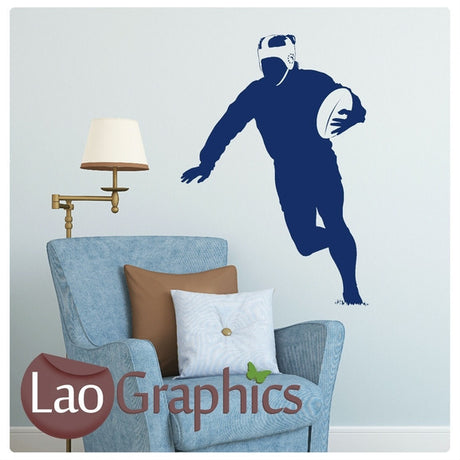 Rugby Player Boys Sports Wall Stickers Home Decor Art Decals-LaoGraphics