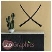 Samurai Swords Vinyl Transfer Wall Stickers Home Decor Art Decals-LaoGraphics
