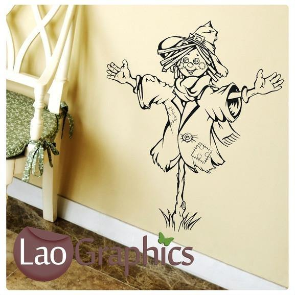 Scarecrow Vinyl Transfer Wall Stickers Home Decor Art Decals-LaoGraphics