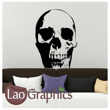 Scary Skull Skulls & Bones Wall Sticker Home Decor Art Decalss-LaoGraphics