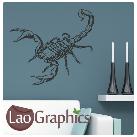 Scorpion Pet Shop Animals Wall Stickers Home Decor Art Decals-LaoGraphics