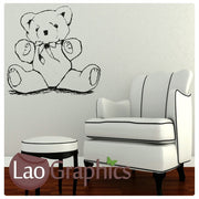 Scruffy Tatty Teddy Wall Stickers Home Decor Art Decals-LaoGraphics