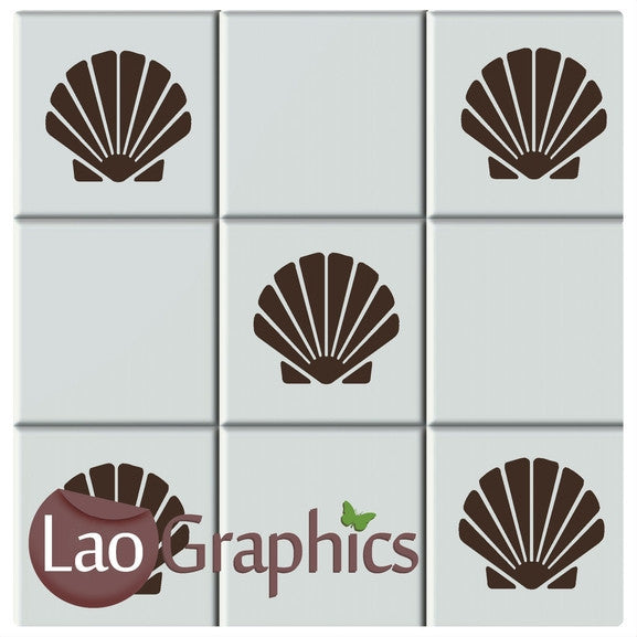 Sea Shell Tile Transfers #1 Home Decor Art Decals-LaoGraphics
