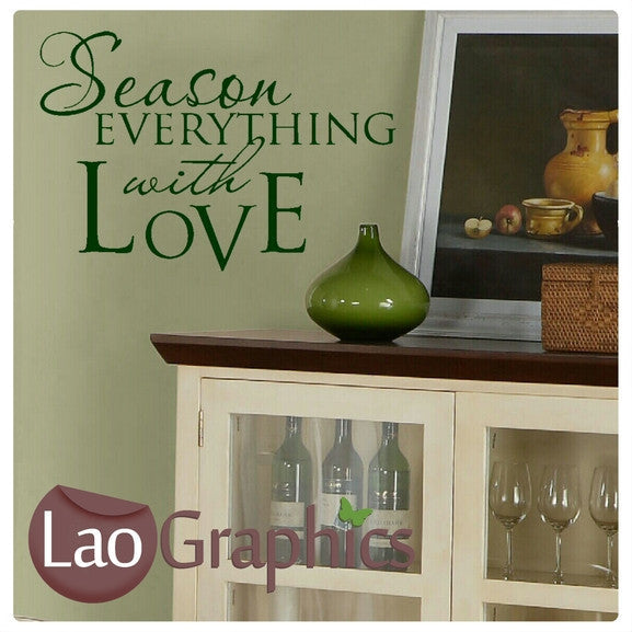 Kitchen Heart Of The Home #2 Kitchen Quote Wall Stickers Home Decor Ar |  LaoGraphics