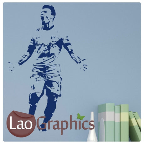 Sergio Aguero Famous Footballer Wall Stickers Home Decor Art Decals-LaoGraphics