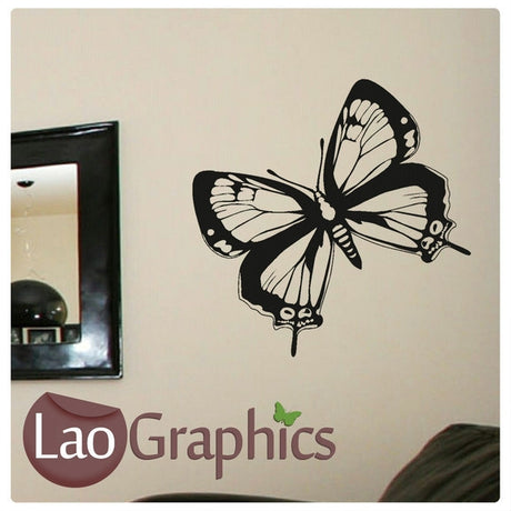 Single Giant Butterfly Girls Bedroom Wall Stickers Home Decor Art Decals-LaoGraphics