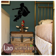 Skateboarder Skating Boys Bedroom Wall Stickers Home Decor Boys Room Art Decals-LaoGraphics