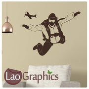 Sky Diving Vinyl Transfer Wall Stickers Home Decor Art Decals-LaoGraphics