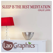 Sleep is The Best Meditation Vinyl Quote Wall Stickers Home Decor Art Decals-LaoGraphics