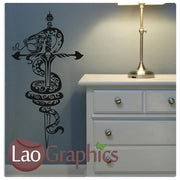 Snake & Dagger Vinyl Transfer Wall Stickers Home Decor Art Decals-LaoGraphics