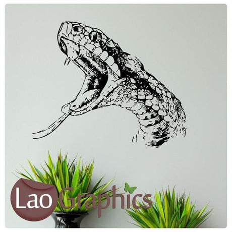 Snake Head Pet Shop Animals Wall Stickers Home Decor Art Decals-LaoGraphics