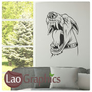 Snarling Dog Canine Puppy Dog Lovers Wall Stickers Home Decor Art Decals-LaoGraphics