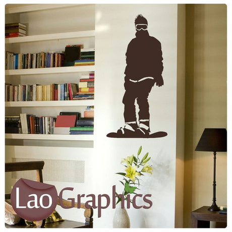 Snowboarder Standing Winter Sports Wall Stickers Home Decor Art Decals-LaoGraphics
