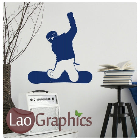 Snowboarding Winter Sports Wall Stickers Home Decor Art Decals-LaoGraphics