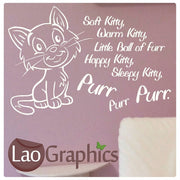Soft Kitty, Warm Kitty Quote Girls Quote Wall Stickers Home Decor Art Decals-LaoGraphics