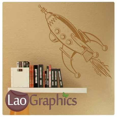 Space Rocket Childs Wall Stickers Home Decor Art Decals-LaoGraphics