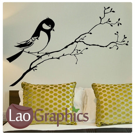 Sparrow Decorative Nature Wall Stickers Home Decor Art Decals-LaoGraphics
