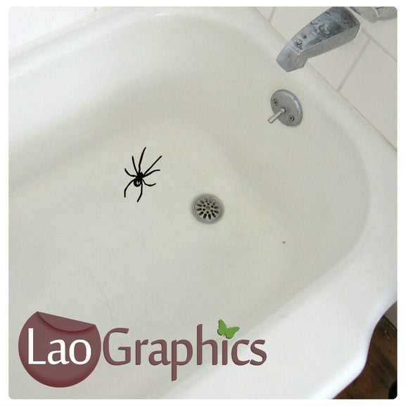 Spiders Toilet Stickers Home Decor Art Decals-LaoGraphics