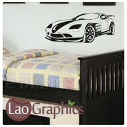 Sports Car Vehicle Transport Wall Stickers Home Decor Art Decals-LaoGraphics