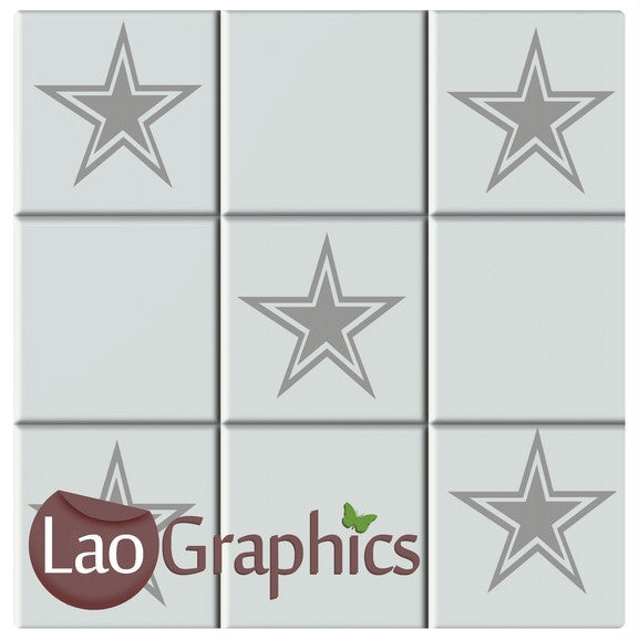 Star Kitchen / Bathroom Tile Transfers Home Decor Art Decals-LaoGraphics