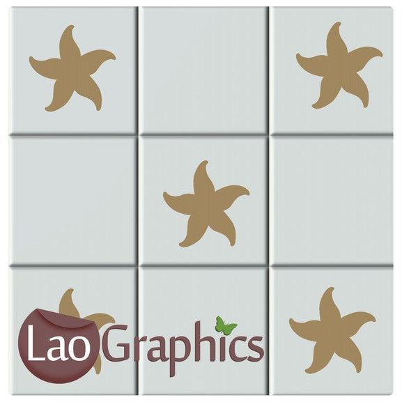 Starfish Kitchen / Bathroom Tile Transfers Home Decor Art Decals-LaoGraphics