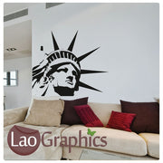 Statue of Liberty Head World Landmark Wall Stickers Home Decor Art Decals-LaoGraphics
