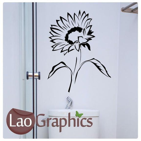 Sunflower Modern Interior Wall Stickers Home Decor Art Decals-LaoGraphics