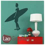 Surfer Extreme Sports Wall Stickers Home Decor Art Decals-LaoGraphics