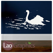 Swan Wall Sticker Home Decor Art Decals-LaoGraphics