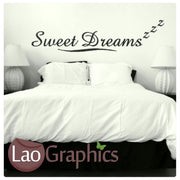Sweet Dreams Bedroom Quote Vinyl Quote Wall Stickers Home Decor Art Decals-LaoGraphics