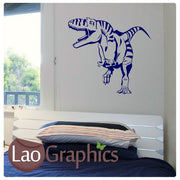 T-Rex Dinosaur Boys Bedroom Wall Stickers Home Decor Art Decals-LaoGraphics