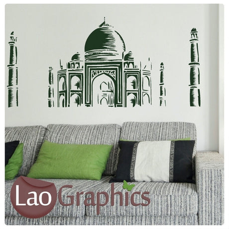 Taj Mahal World Landmark Wall Stickers Home Decor Art Decals-LaoGraphics