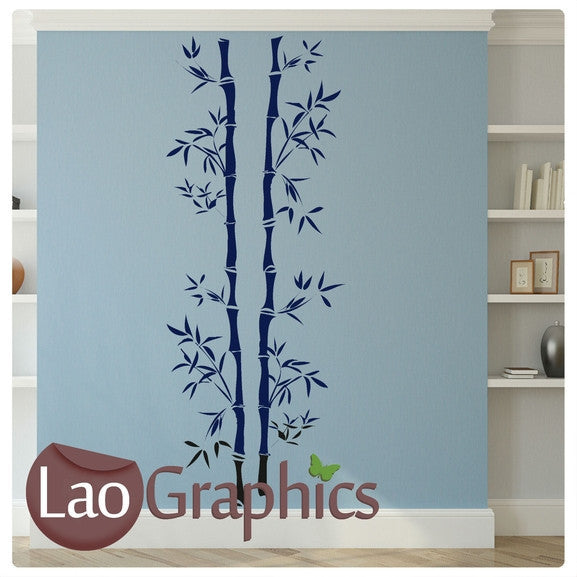 Tall Bamboo Bamboo Shoots Leaves Wall Stickers Home Decor Art