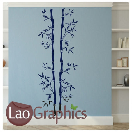 Tall Bamboo Bamboo Shoots & Leaves Wall Stickers Home Decor Art Decals-LaoGraphics