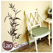 Tall Bamboo Plant Bamboo Shoots & Leaves Wall Stickers Home Decor Art Decals-LaoGraphics