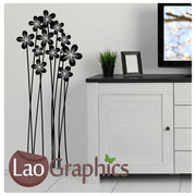 Tall Flower Stems Modern Interior Wall Stickers Home Decor Art Decals-LaoGraphics